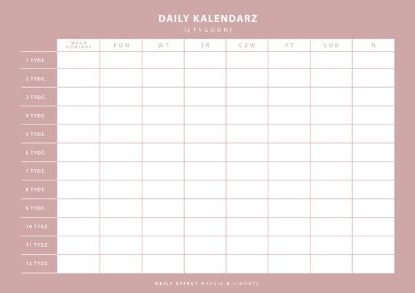 Daily-Kalendarz-12-tygodni-1